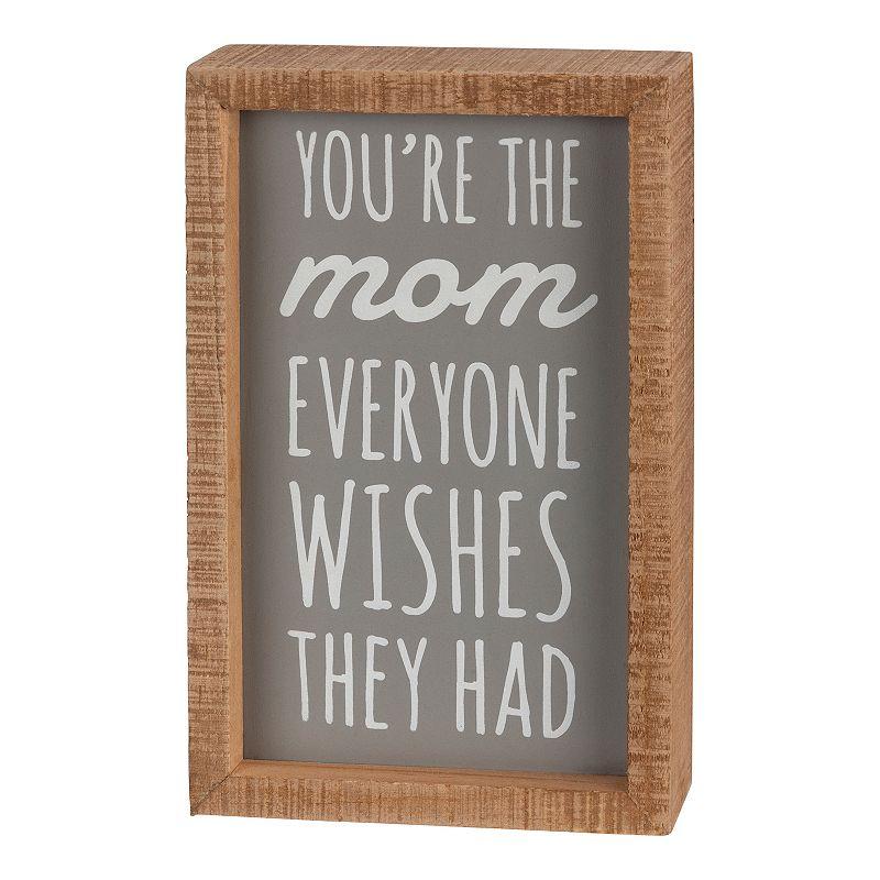 The Mom Box Sign Wall Art, Grey, 5X8