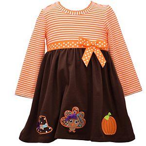 Baby Girl Bonnie Jean Thanksgiving Babydoll Dress