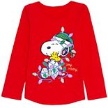 Girls 4-12 Jumping Beans® Peanuts Very Merry Snoopy Tee