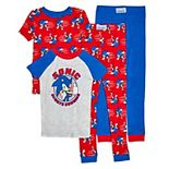 Boys 4-10 Sonic the Hedgehog 4-piece Pajama Set