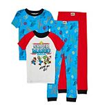 Boys 4-10 4-piece Super Mario Pajama Set
