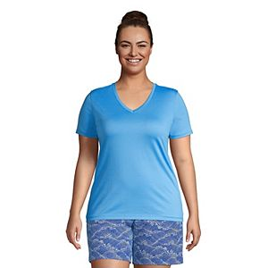 Plus Size Lands' End Relaxed-Fit Supima Cotton V-Neck Tee