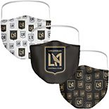 Adult Fanatics Branded LAFC All Over Logo Face Covering 3-Pack