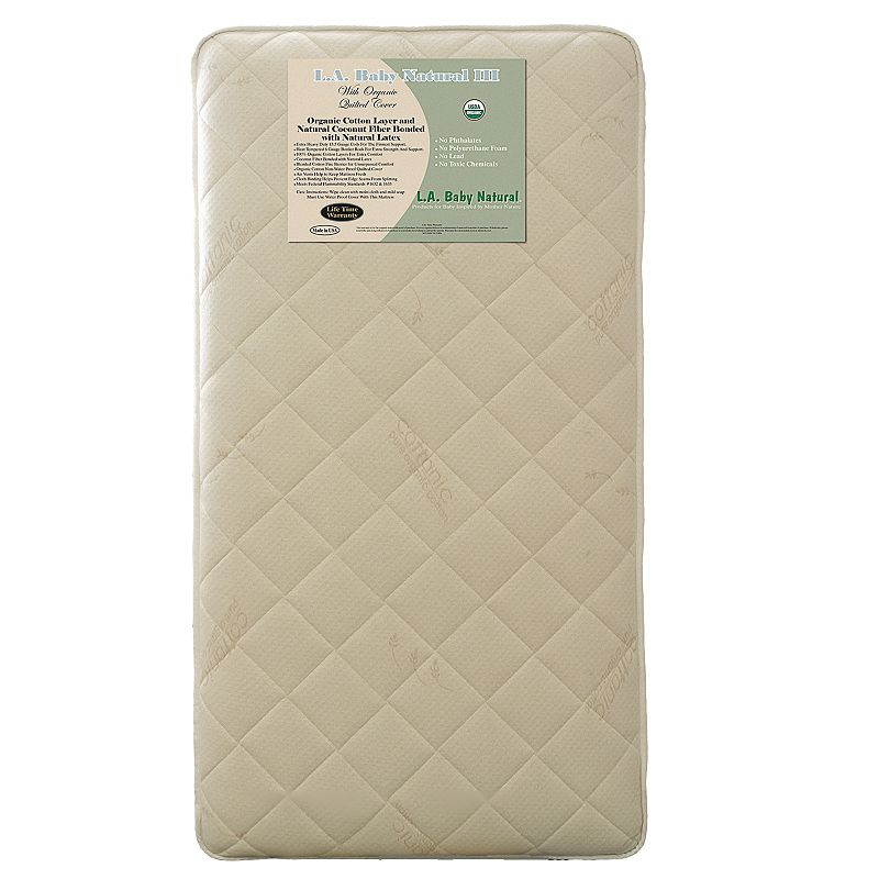 L.A. Baby Quilted Organic Cotton Crib Mattress
