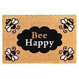 RugSmith Bee Happy Doormat