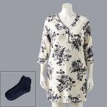 Plus Size Simply Vera Vera Wang Cozy Sleepshirt & Socks Set