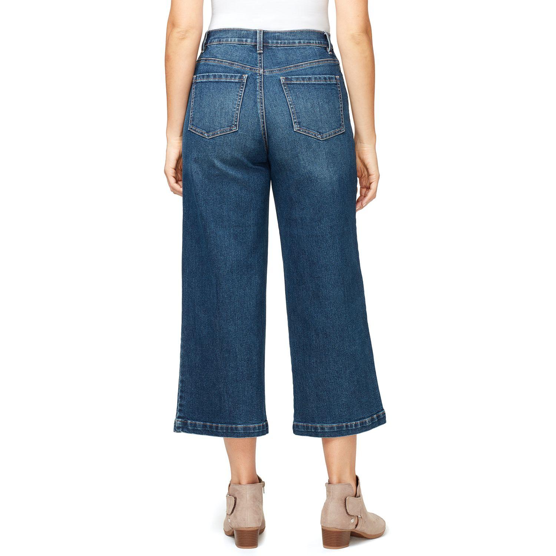 Women's Gloria Vanderbilt Amanda Wide-Leg Crop Jeans