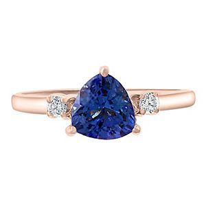 Effy 14k Rose Gold Tanzanite & Diamond Accent Ring