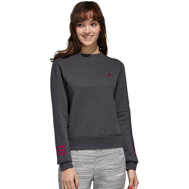 Women's adidas Mockneck Sweatshirt, Size: Large, Dark Grey