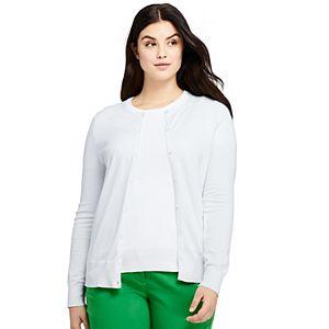 Plus Size Lands' End Cardigan Sweater