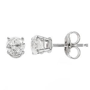 14k Rose Gold 3/4 Carat T.W. Diamond Stud Earrings