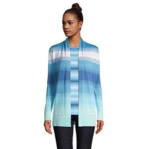 Petite Lands' End Cotton Open Long Cardigan Sweater