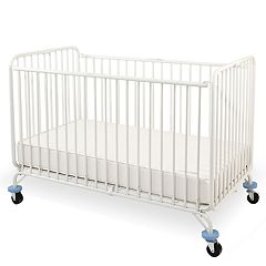 LA Baby Full Size Metal Holiday Folding Crib