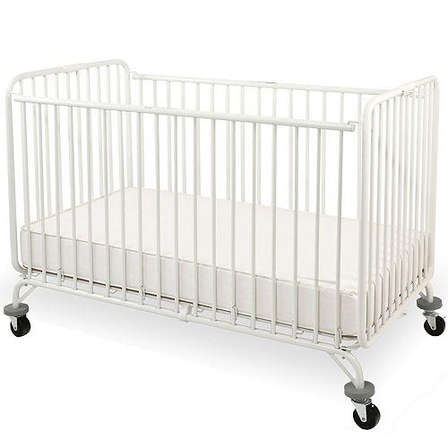LA Baby Full Size Metal Holiday Folding Crib