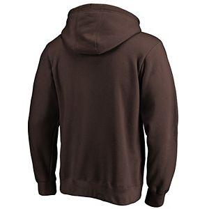 Men's Fanatics Branded Brown San Diego Padres Team Logo Lockup Pullover Hoodie
