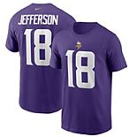 Men's Nike Justin Jefferson Purple Minnesota Vikings 2020 NFL Draft First Round Pick Player Name & Number T-Shirt