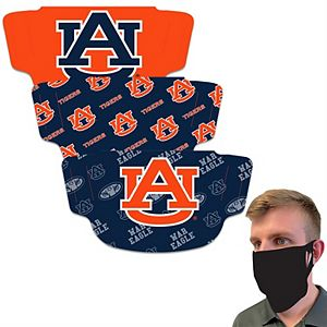 Adult WinCraft Auburn Tigers Face Covering 3-Pack - MADE IN USA