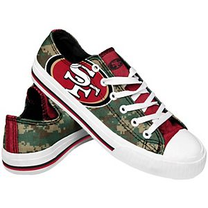 Men's FOCO San Francisco 49ers Low Top Digi Camo Shoes