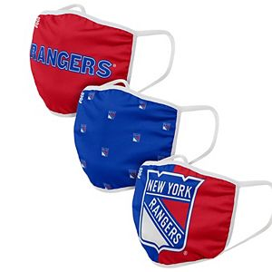 Adult FOCO New York Rangers Face Covering 3-Pack
