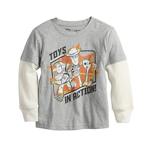 Disney / Pixar Toy Story Toddler Boy Thermal Sleeve Skater Tee by Jumping Beans®