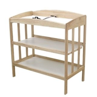 L.A. Baby 3-Shelf Wooden Changing Table