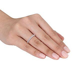 Stella Grace 10k White Gold Aquamarine Eternity Ring
