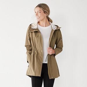 Women's Nine West Hooded Rain Coat