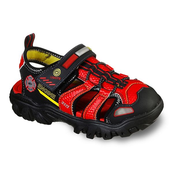 Naturaleza escritura solo  Skechers® Hot Lights Damager III Beach Blaze Boy's Light Up Fisherman  Sandals