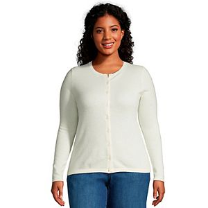Plus Size Lands' End Classic Cashmere Cardigan Sweater