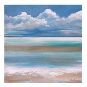 Patton Tranquility By The Sea Canvas Wall Art
