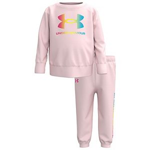 Baby Girl Under Armour Big Logo Ombre Set