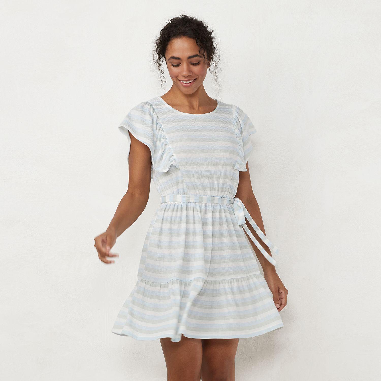 Women's LC Lauren Conrad Ruffle Fit & Flare Dress