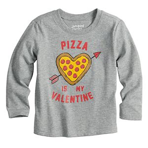 """Toddler Boy Jumping Beans® """"Pizza Is My Valentine"""" Long Sleeve Graphic Tee"""