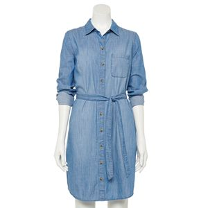 Petite Sonoma Goods For Life® Ls Shirt Dress