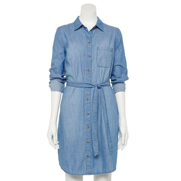 Petite Sonoma Goods For Life® Long Sleeve Shirt Dress