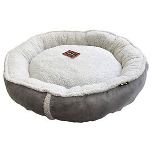 Woof Round Sherpa Pet Bed