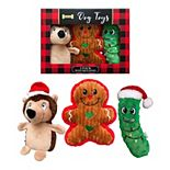 Woof 3-Pack Plush Holiday Dog Toys