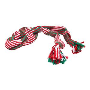 Woof Holiday Squeaker Rope Toy