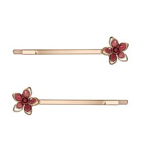 LC Lauren Conrad Gold Tone Flower Bobby Pin Set