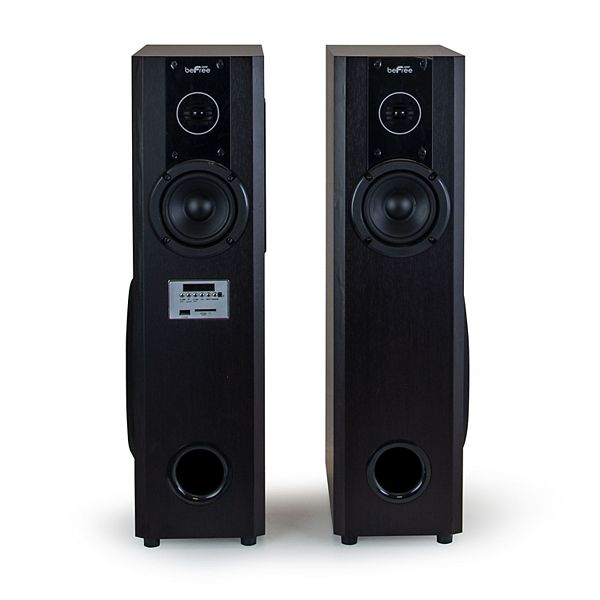 Befree Sound 2 1 Channel Home Theater Bluetooth Powered Double Tower Speakers