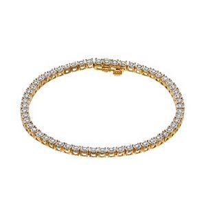 14k Gold Over Silver 1/2 Carat T.W. Diamond Tennis Bracelet