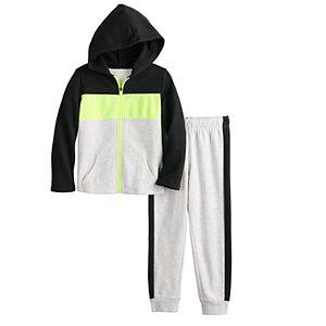 Boys 4-12 Jumping Beans® Colorblock Athleisure Hoodie & Pants Set