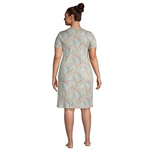 Plus Size Lands' End Supima Cotton Short Sleeve Short Nightgown