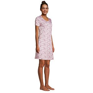 Petite Lands' End Supima Cotton Short Sleeve Short Nightgown