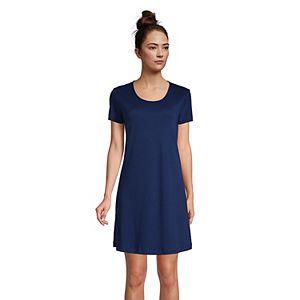 Petite Lands' End Supima Cotton Short Sleeve Short Nightgown