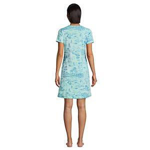 Women's Lands' End Supima Cotton Short Sleeve Short Nightgown
