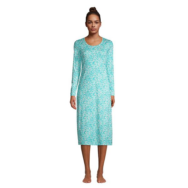 Women S Lands End Supima Cotton Long Sleeve Nightgown
