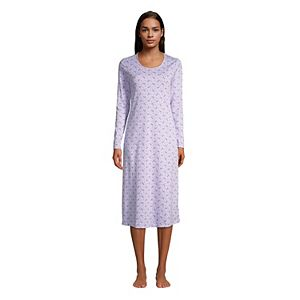 Petite Lands' End Supima Cotton Long Sleeve Nightgown