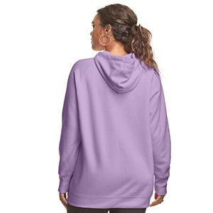Plus Size Champion® Powerblend Watercolor Script Graphic Hoodie
