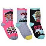 LOL Surprise OMG Slay the Runway 3-pack Socks
